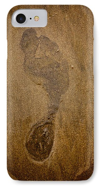 Footprint In The Sand IPhone Case by Anthony Doudt