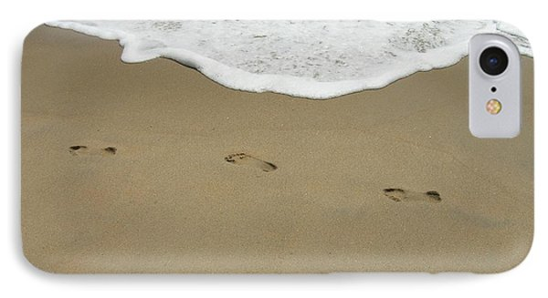 IPhone Case featuring the photograph Footprints by Arlene Carmel