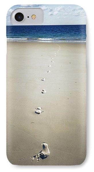 Footprints IPhone Case by Carlos Dominguez