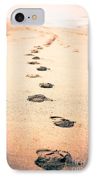 Footprints In Sand Phone Case by Paul Velgos