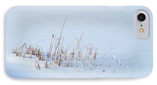 Footprints On Snow Phone Case by Paul Ge