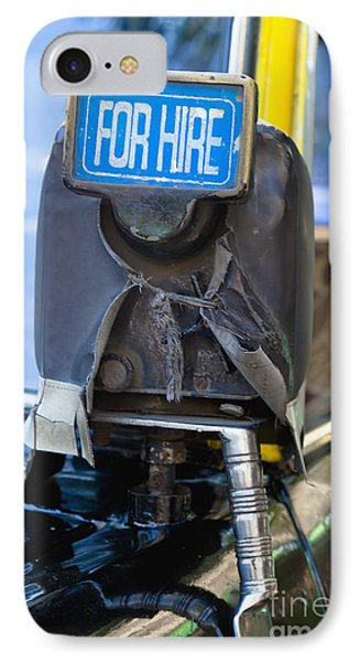 For Hire Sign On Taxi Phone Case by Inti St. Clair