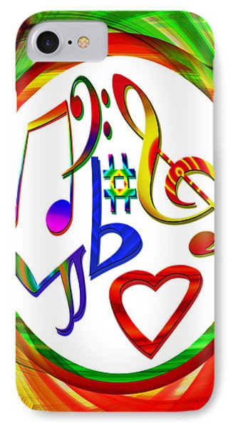 For The Love Of Music Phone Case by Susan Leggett