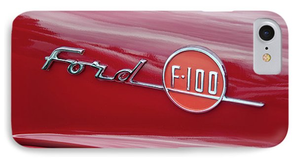 Ford F-100 Nameplate Phone Case by Guy Whiteley