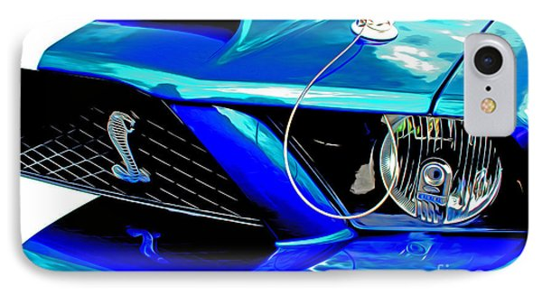 IPhone Case featuring the digital art Ford Mustang Cobra by Tony Cooper