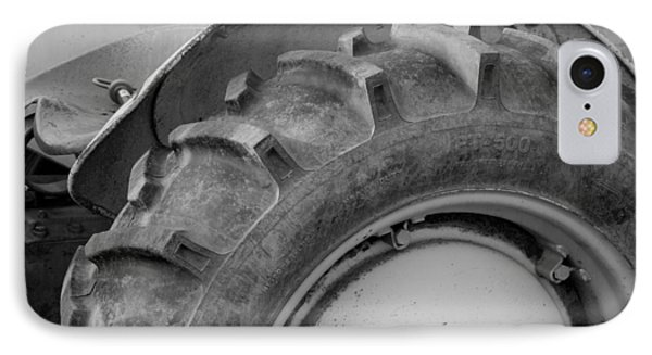 Ford Tractor In Black And White Phone Case by Jennifer Ancker