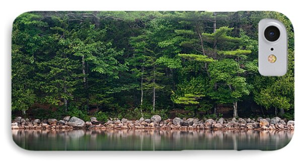Forest At Jordan Pond Acadia Phone Case by Steve Gadomski