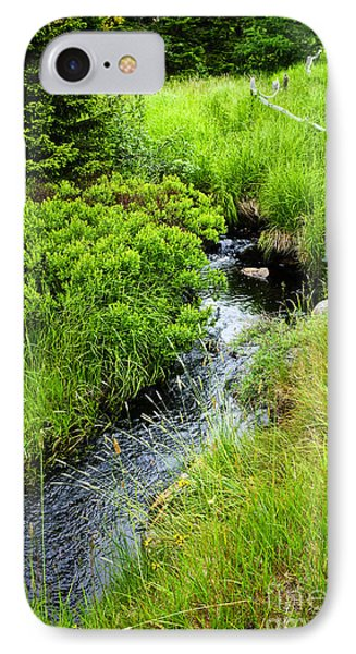 Forest Creek In Newfoundland Phone Case by Elena Elisseeva