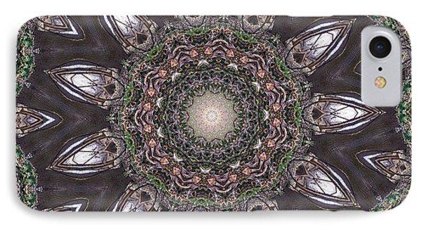 Forest Mandala 1 Phone Case by Rhonda Barrett