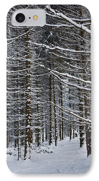 Forest Of Marburg In Winter Phone Case by Axiom Photographic
