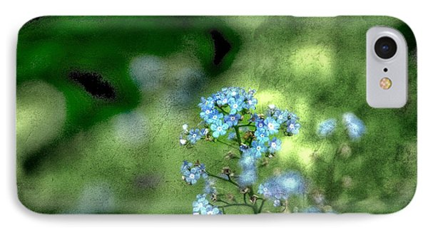 Forget-me-not Grunge Phone Case by Darren Fisher