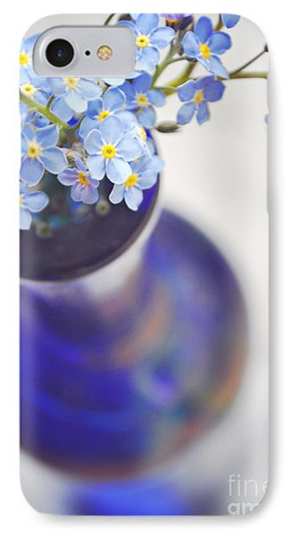 Forget Me Nots In Deep Blue Vase Phone Case by Lyn Randle