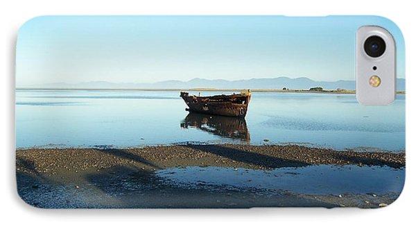 Forgotten Boat Wreck Near Motueka IPhone Case by Peter Mooyman