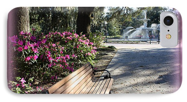 Forsyth Park In Spring Pink Phone Case by Carol Groenen