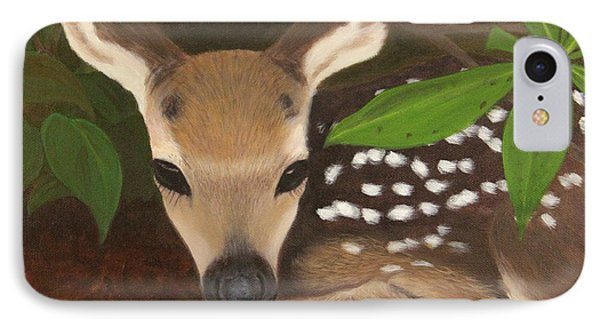 IPhone Case featuring the painting Found A Fawn by Janet Greer Sammons