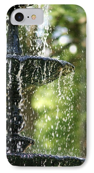 IPhone Case featuring the photograph Fountain At Capitol Square by Suzanne Powers