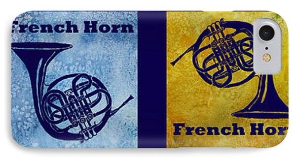 Four French Horns Phone Case by Jenny Armitage