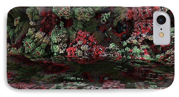 Fractal Alien Landscape Phone Case by David Lane