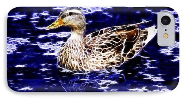 IPhone Case featuring the digital art Fractal - Mallard In Pond- 9164 by James Ahn