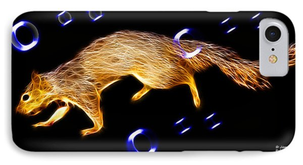 Fractal - Searching -  Robbie The Squirrel -7828 IPhone Case by James Ahn