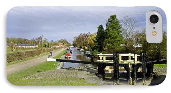 Fradley Middle Lock No. 18 Phone Case by Rod Johnson