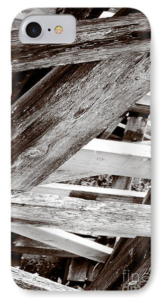 Framework Kinsol Trestle Wooden Frame In Abstract Black And White Phone Case by Andy Smy