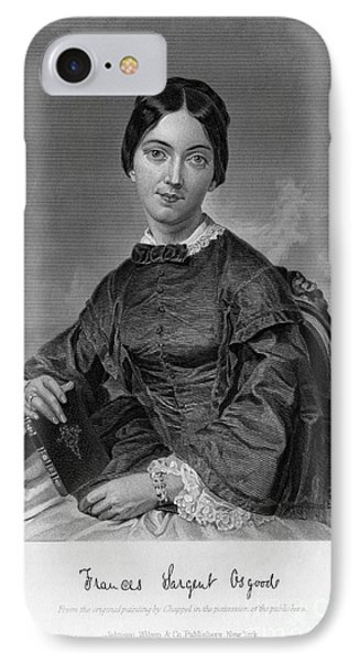 Frances Sargent Osgood (1811-1850). American Poet. Engraving From A Painting By Alonzo Chappel, C1873 IPhone Case