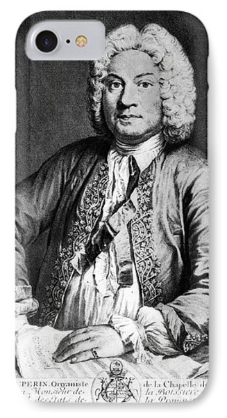 Francois Couperin (1668-1733). French Composer And Organist. Copper Engraving, 1725, By Joseph Flipart After A. Bouys Phone Case by Granger