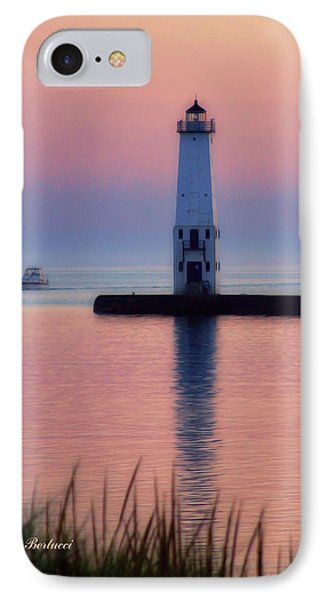 IPhone Case featuring the photograph Frankfort Lighthouse by Joan Bertucci