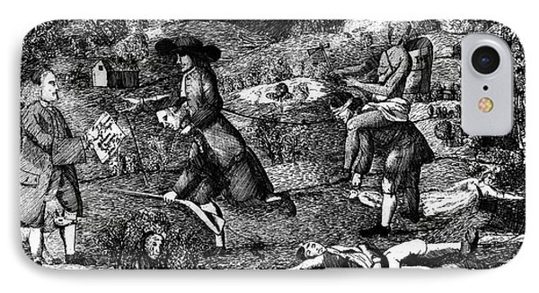 Franklin: Cartoon, 1764 Phone Case by Granger