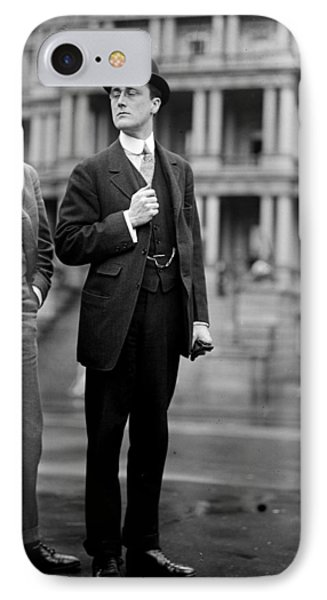 Franklin Delano Roosevelt As A Young Man - C 1913 IPhone Case by International  Images
