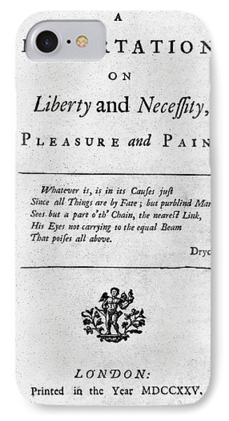 Franklin: Title Page, 1725 Phone Case by Granger