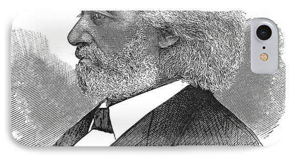 Frederick Douglass (c1817-1895). American Abolitionist. Wood Engraving, American, 1877 Phone Case by Granger