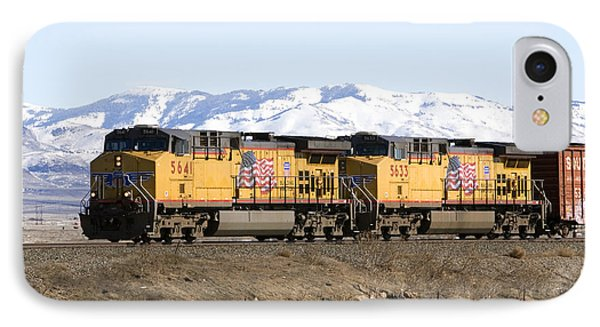 Freight Train East Of Boise Phone Case by David R Frazier and Photo Researchers
