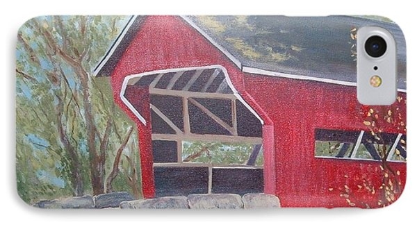 French Lick Covered Bridge Phone Case by Julie Cranfill