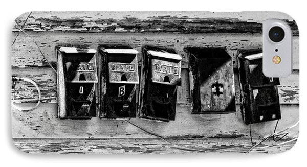 Freret Street Mailboxes - Black And White -nola Phone Case by Kathleen K Parker