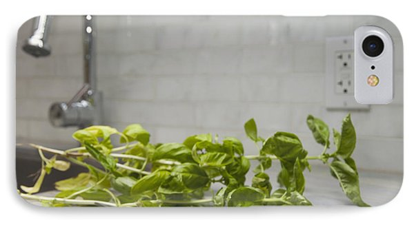 Fresh Basil Herb Leaves From The Garden IPhone Case by Marlene Ford