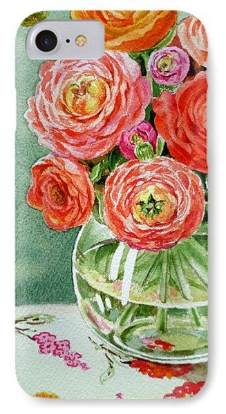 Fresh Cut Flowers IPhone Case by Irina Sztukowski