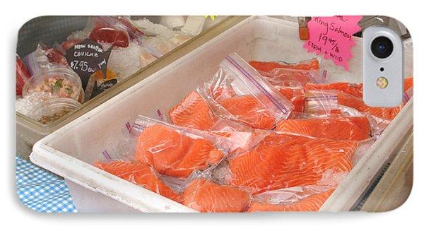 Fresh King Salmon Phone Case by Hiroko Sakai