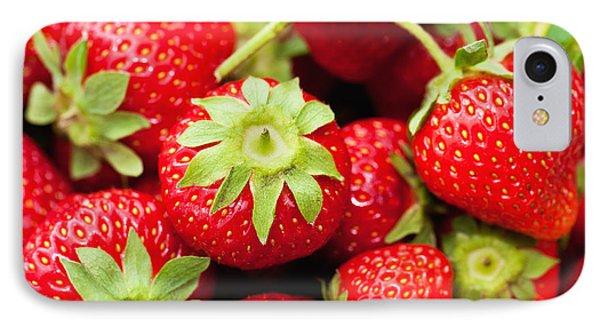 Fresh Strawberries Phone Case by Marta Holka