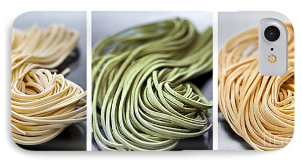 Spinach iPhone 7 Case - Fresh Tagliolini Pasta by Elena Elisseeva