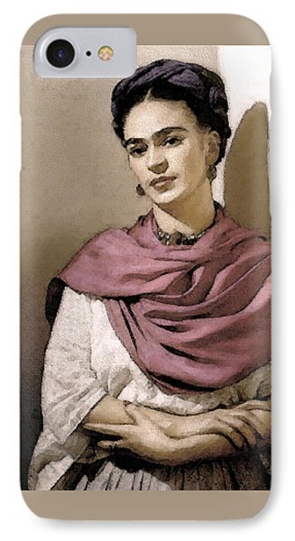 Frida Interpreted 2 Phone Case by Lenore Senior