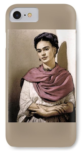 IPhone Case featuring the photograph Frida Interpreted 2 by Lenore Senior