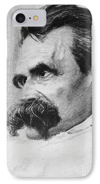 Friedrich Wilhelm Nietzsche, German Phone Case by Photo Researchers