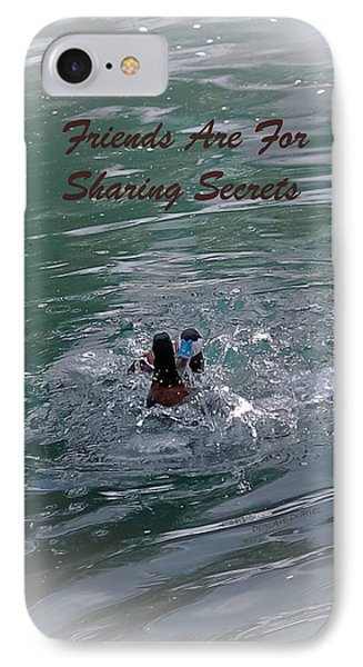 Friends Are For Sharing Secrets Phone Case by DigiArt Diaries by Vicky B Fuller