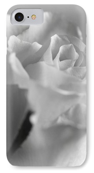 Friendship Rose In Black And White Phone Case by Mark J Seefeldt