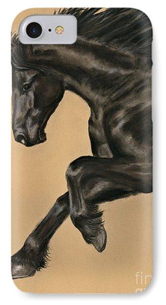 Friesian Portrait IPhone Case by Sheri Gordon
