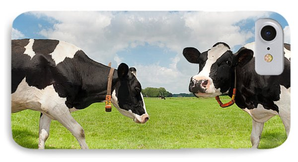 IPhone Case featuring the photograph Frisian Cows by Hans Engbers
