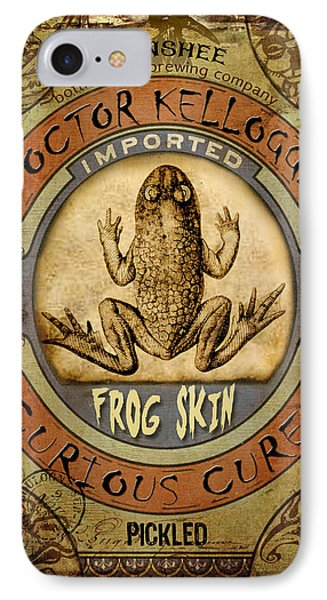 IPhone Case featuring the digital art Frog Skin by Nada Meeks