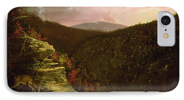 From The Top Of Kaaterskill Falls Phone Case by Thomas Cole